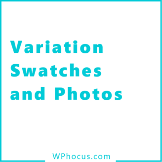 Variation swatches and photos woocommerce