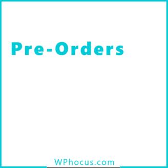 Pre orders woocommerce