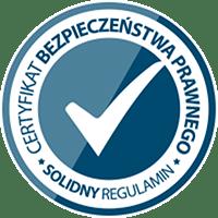 Świadectwo zgodności - solidnyregulamin.pl