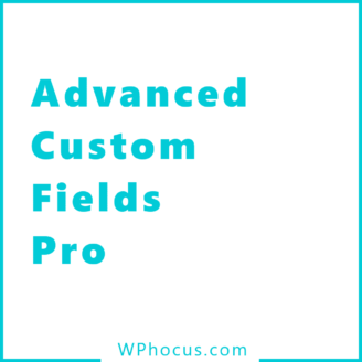 ADVANCED CUSTOM FILEDS PRO