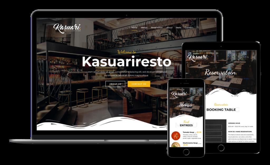Motyw WordPress dla restauracji