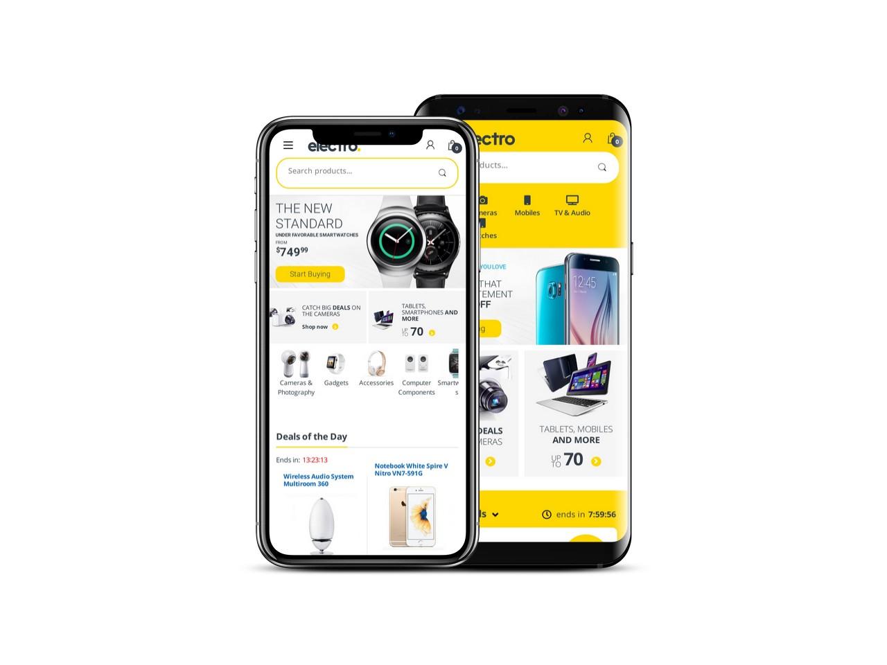 WooCommerce wersja mobilna motyw elektro
